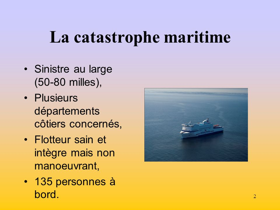 La catastrophe maritime