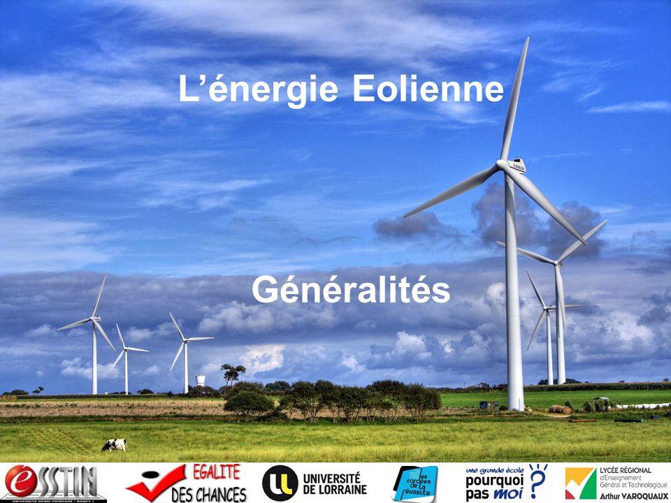 L'énergie Eolienne Généralités