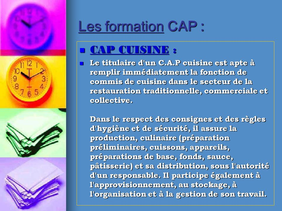 Lyc e cfa h telierbonneveine ppt t l charger for Responsable de cuisine collective