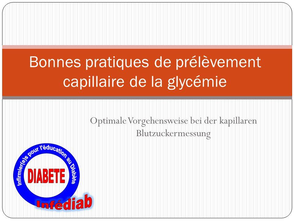 Bonnes pratiques de prélèvement capillaire de la glycémie