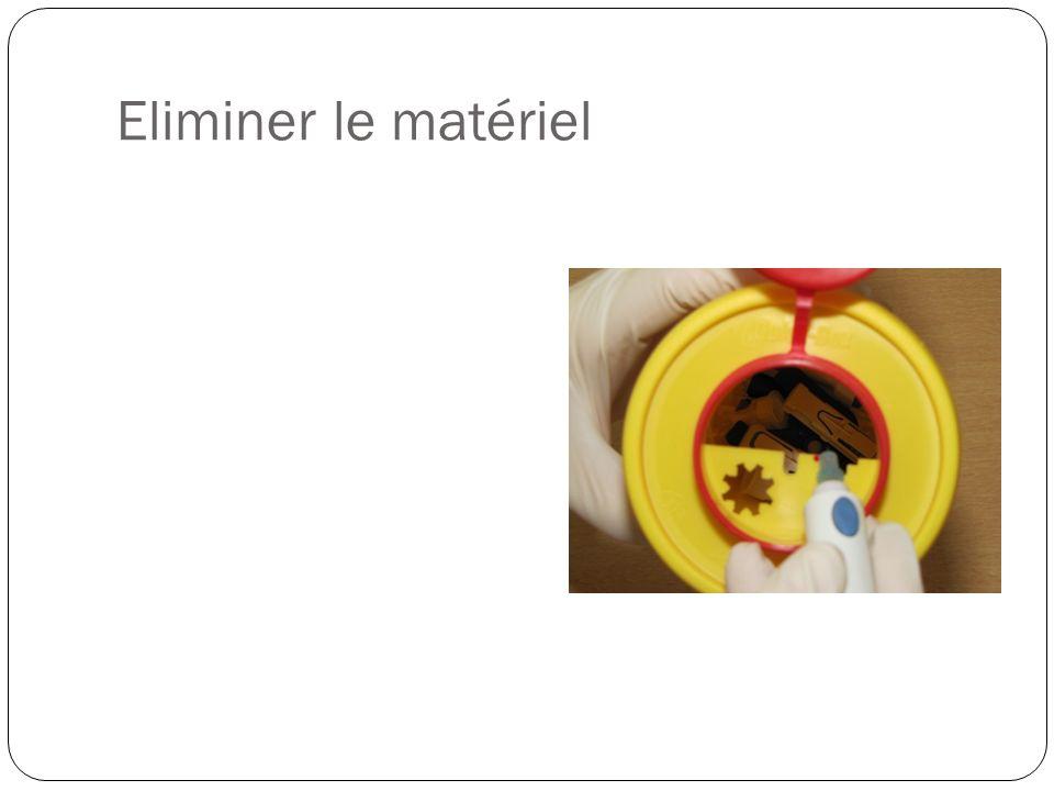 Eliminer le matériel Les containers jaunes sont distribués gratuitement et repris par les pharmacies et « superdreckskecht »