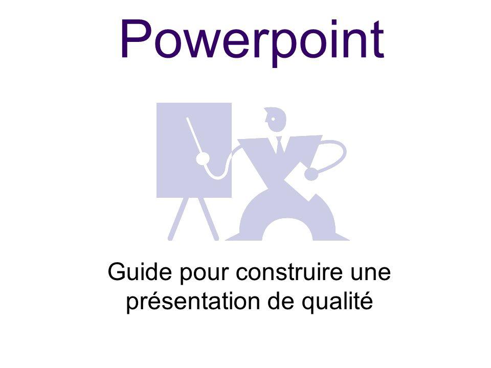 Guide pour construire une présentation de qualité
