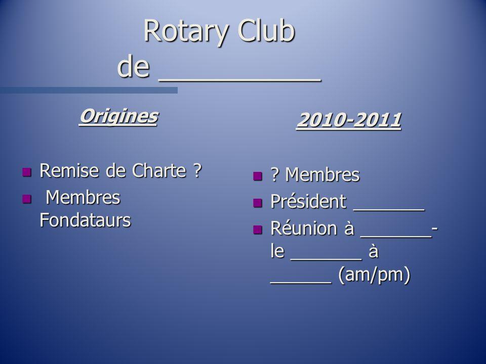 Rotary Club de __________