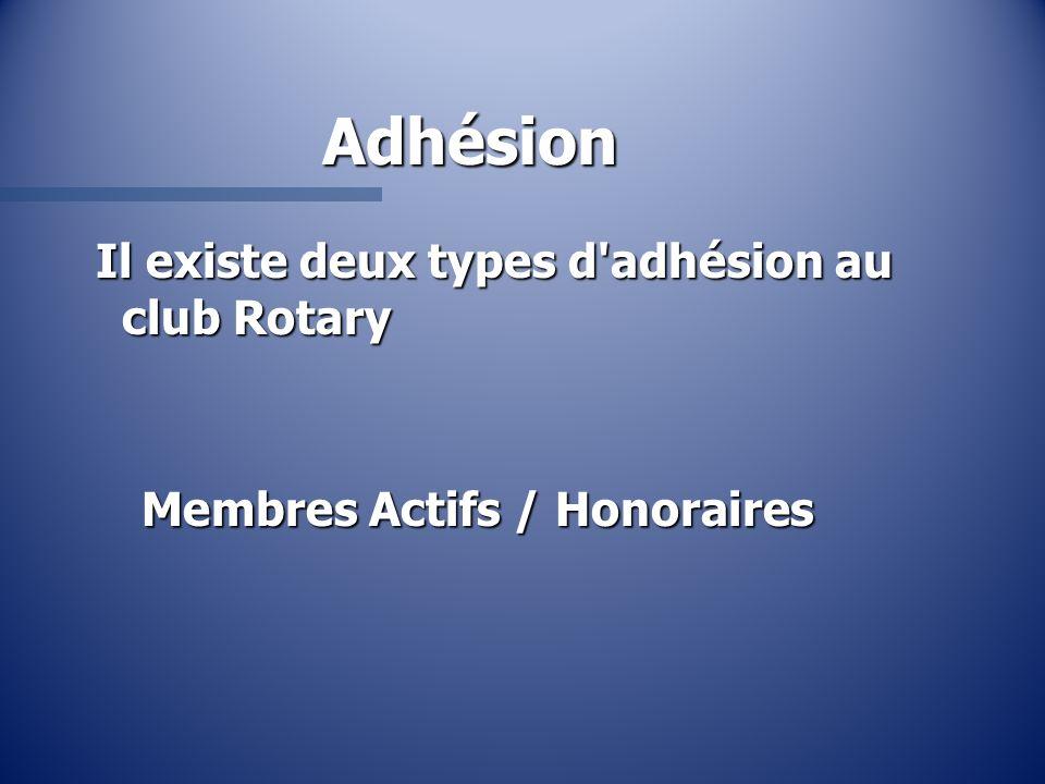 Adhésion Il existe deux types d adhésion au club Rotary