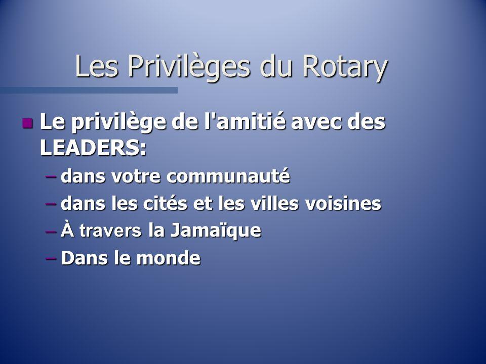 Les Privilèges du Rotary