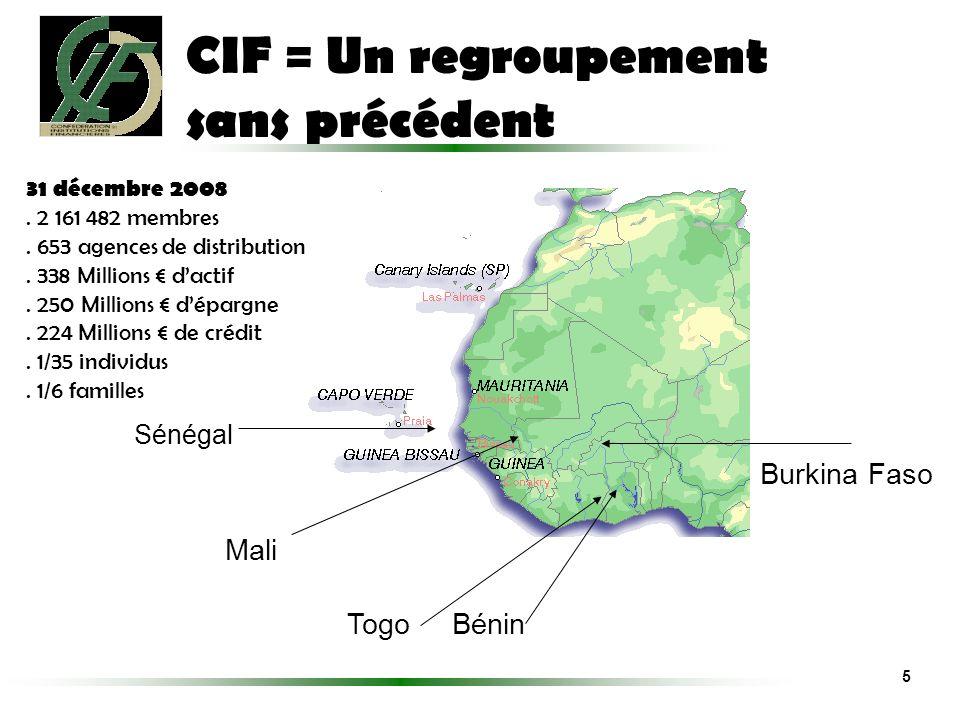 CIF = Un regroupement sans précédent