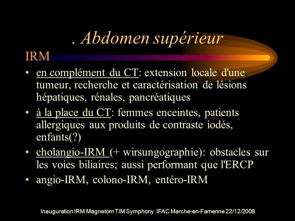 . Abdomen supérieur IRM.