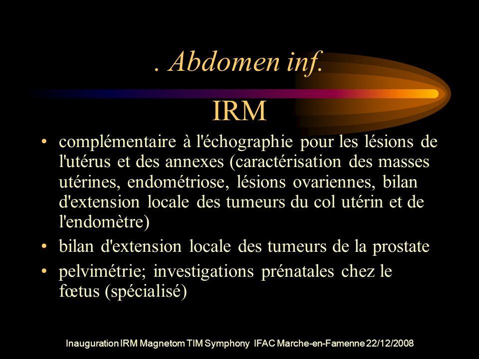 . Abdomen inf. IRM.