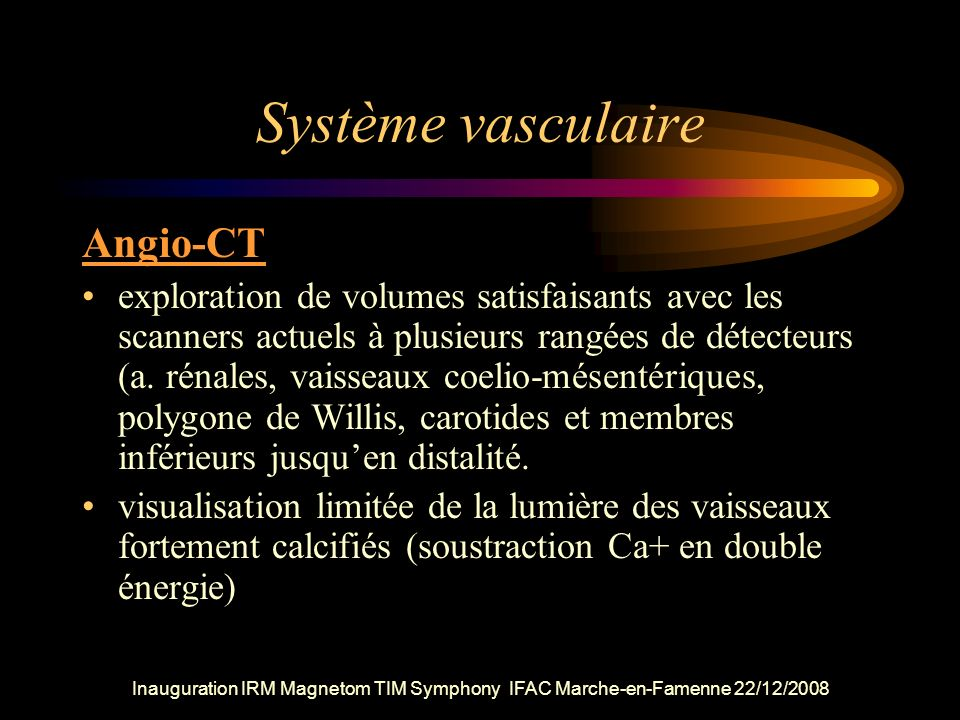 Système vasculaire Angio-CT
