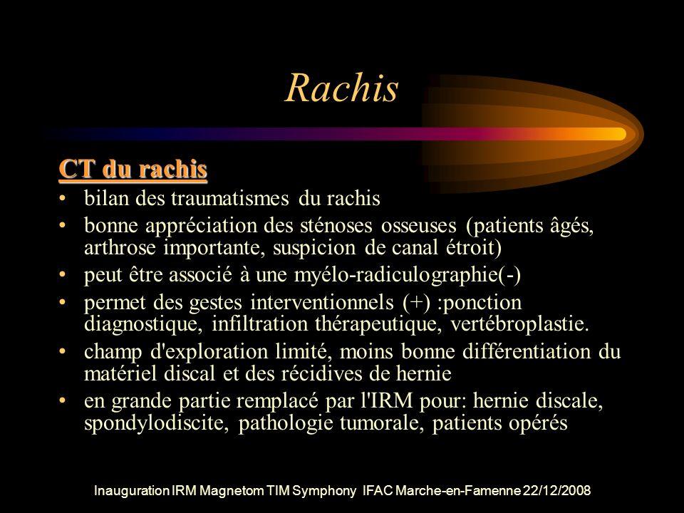 Rachis CT du rachis bilan des traumatismes du rachis