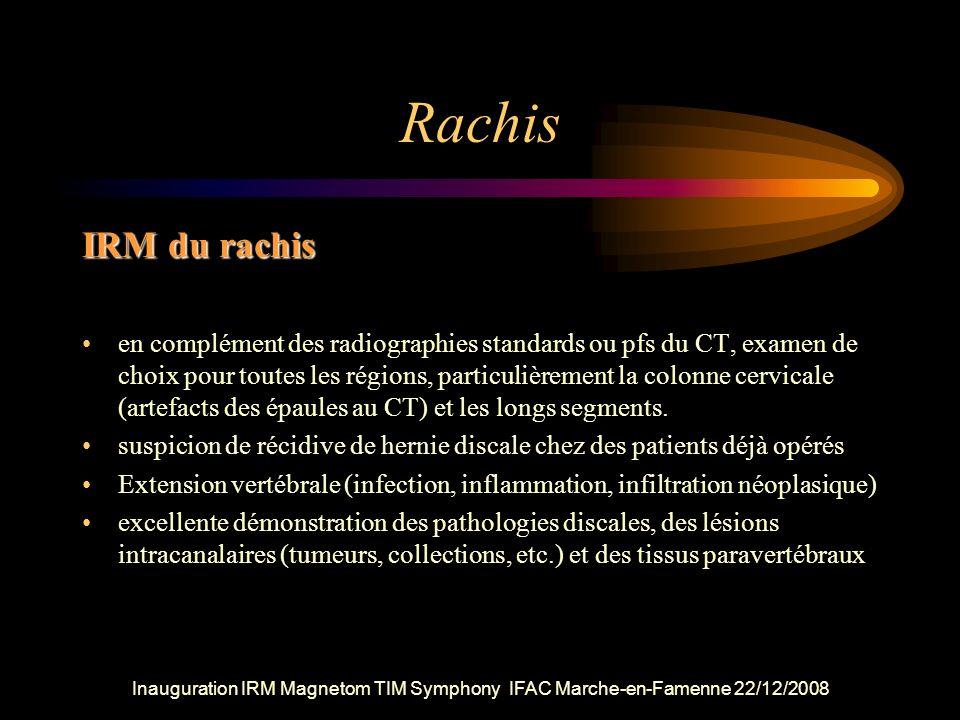 Rachis IRM du rachis.