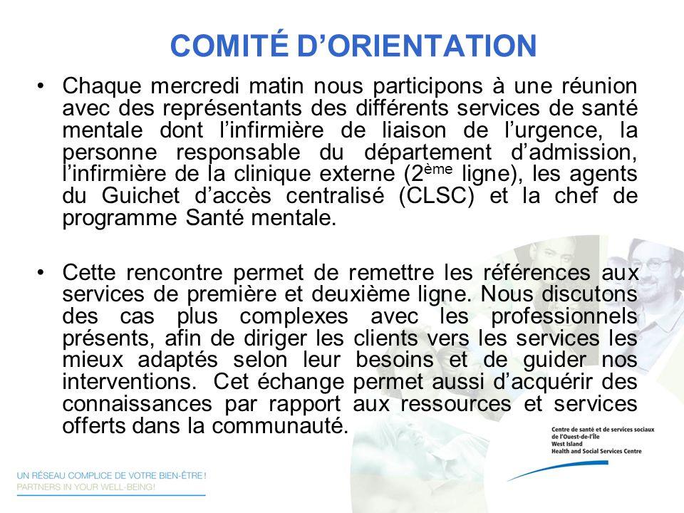 COMITÉ D'ORIENTATION