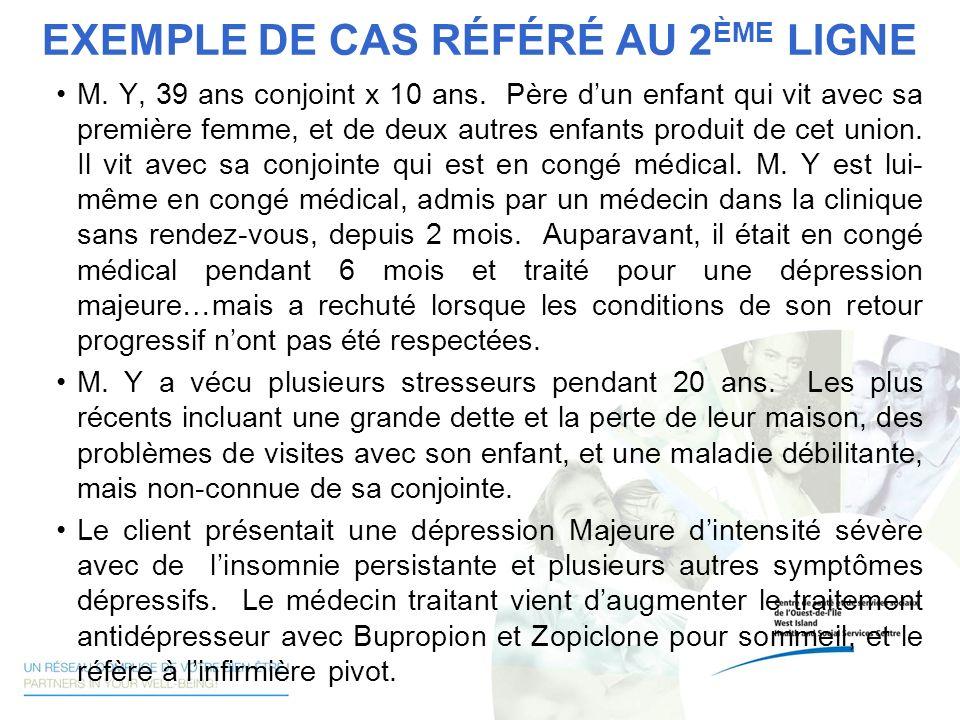 EXEMPLE DE CAS RÉFÉRÉ AU 2ÈME LIGNE