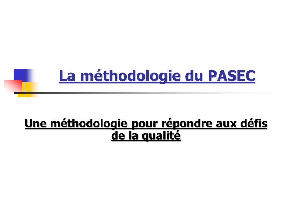 La méthodologie du PASEC