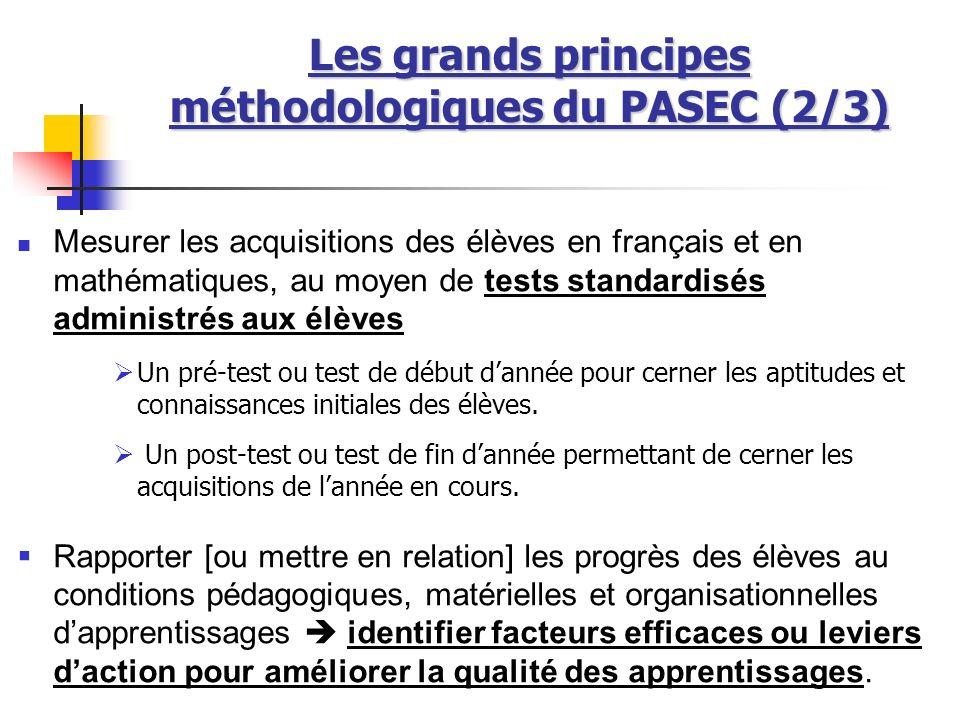 Les grands principes méthodologiques du PASEC (2/3)