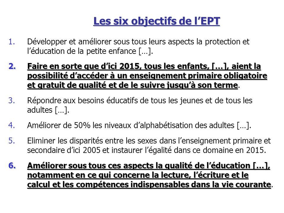 Les six objectifs de l'EPT
