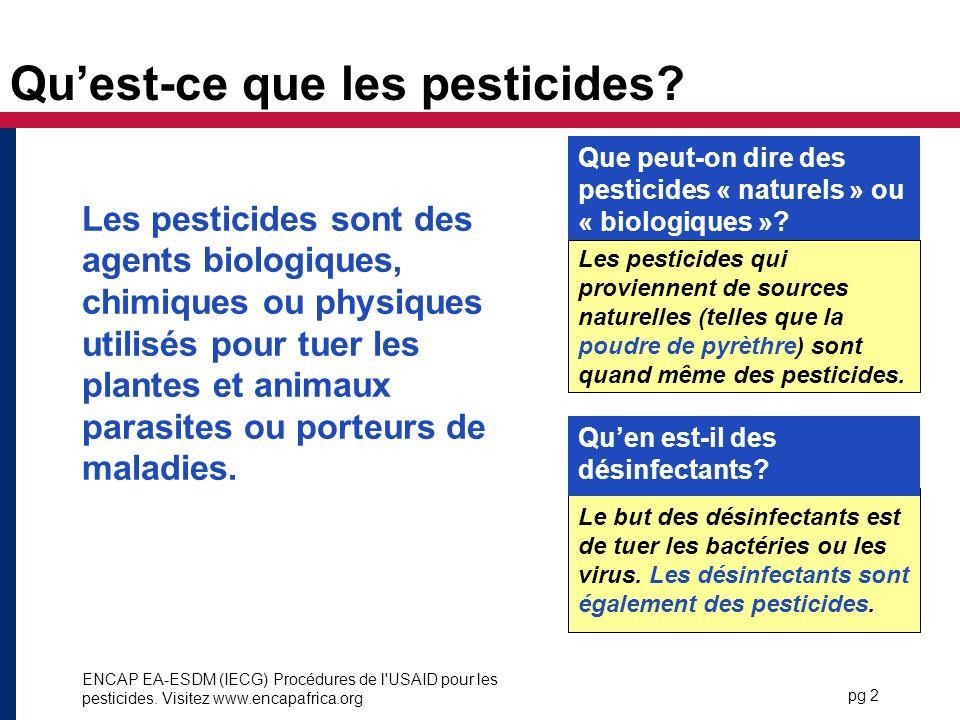 Qu'est-ce que les pesticides