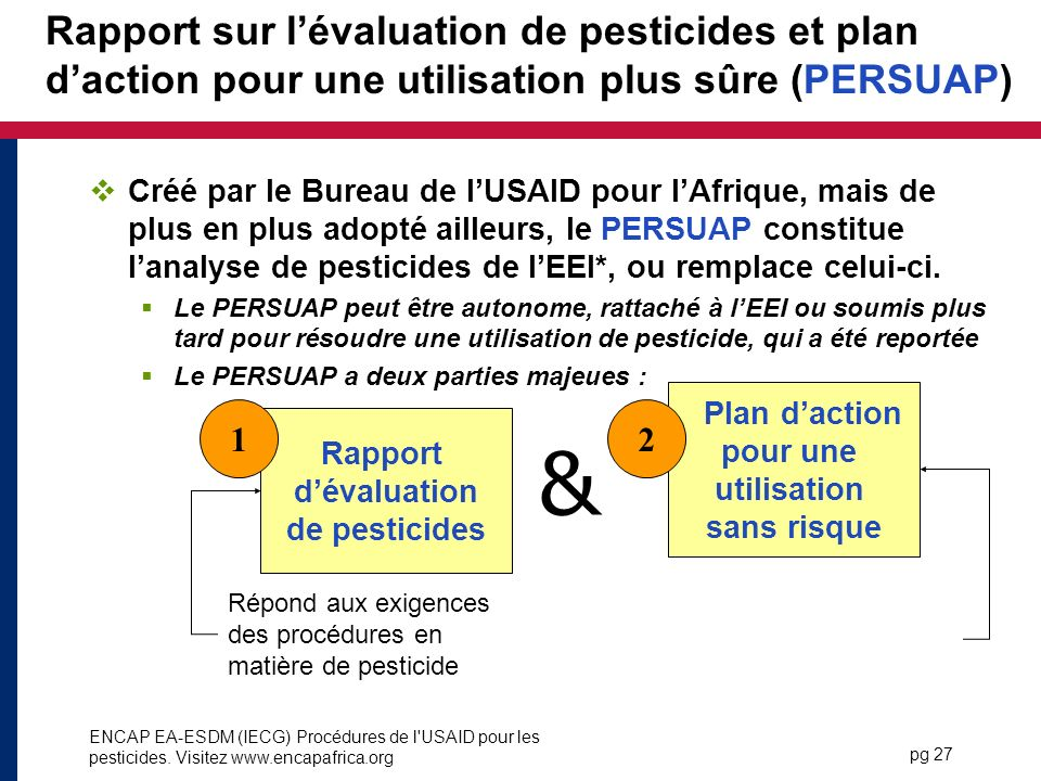 Rapport d'évaluation de pesticides
