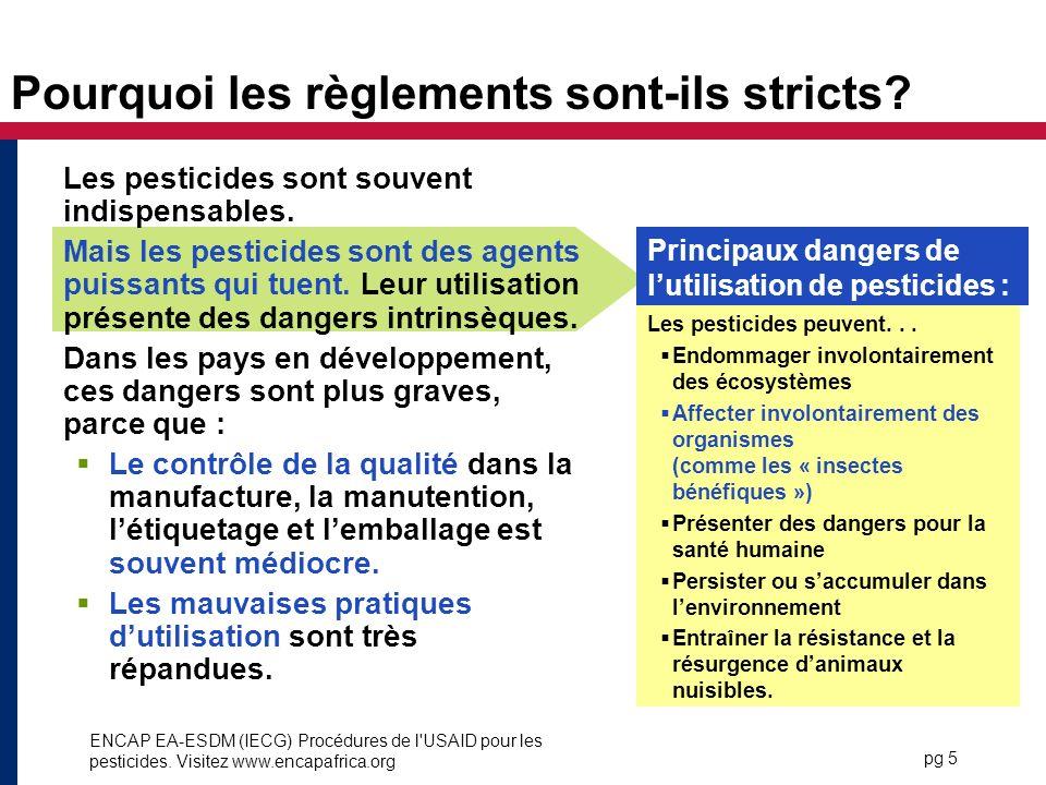 Pourquoi les règlements sont-ils stricts