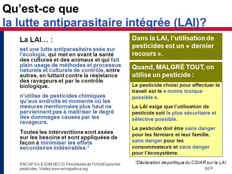 Qu'est-ce que la lutte antiparasitaire intégrée (LAI)