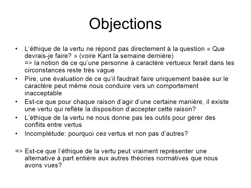 Objections