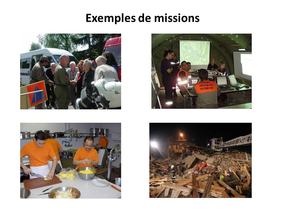 Exemples de missions