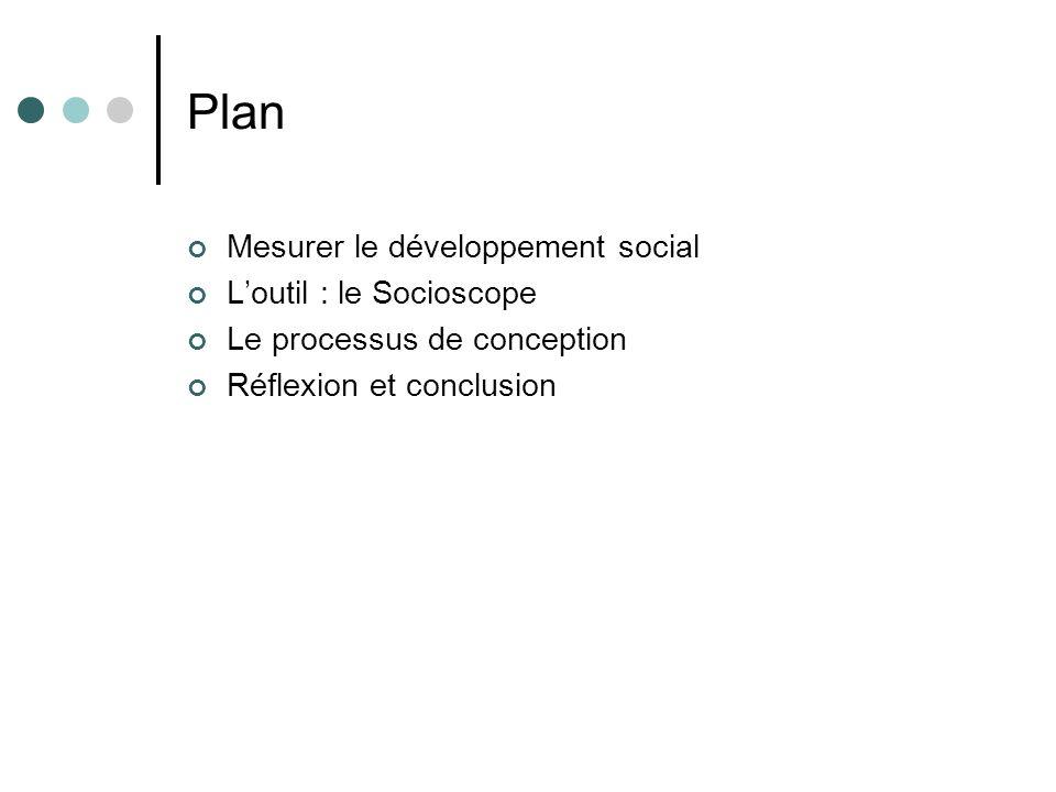 Plan Mesurer le développement social L'outil : le Socioscope