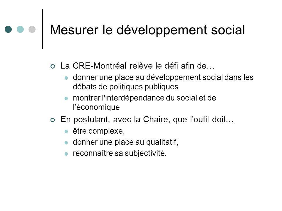 Mesurer le développement social