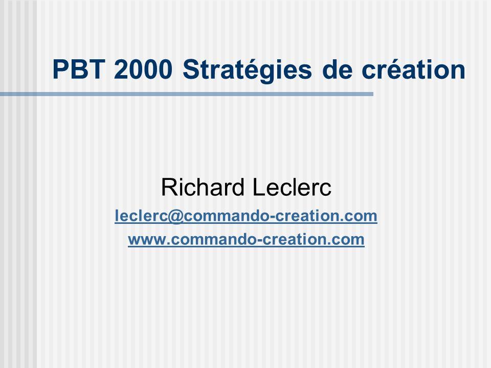 PBT 2000 Stratégies de création