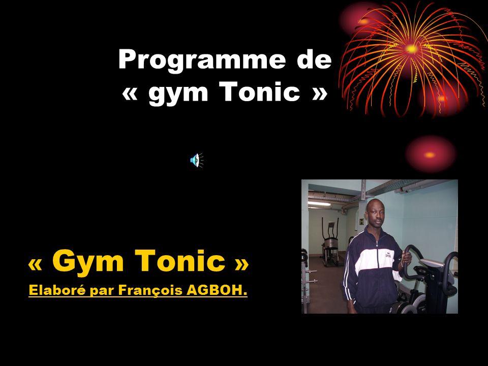 Programme de « gym Tonic »