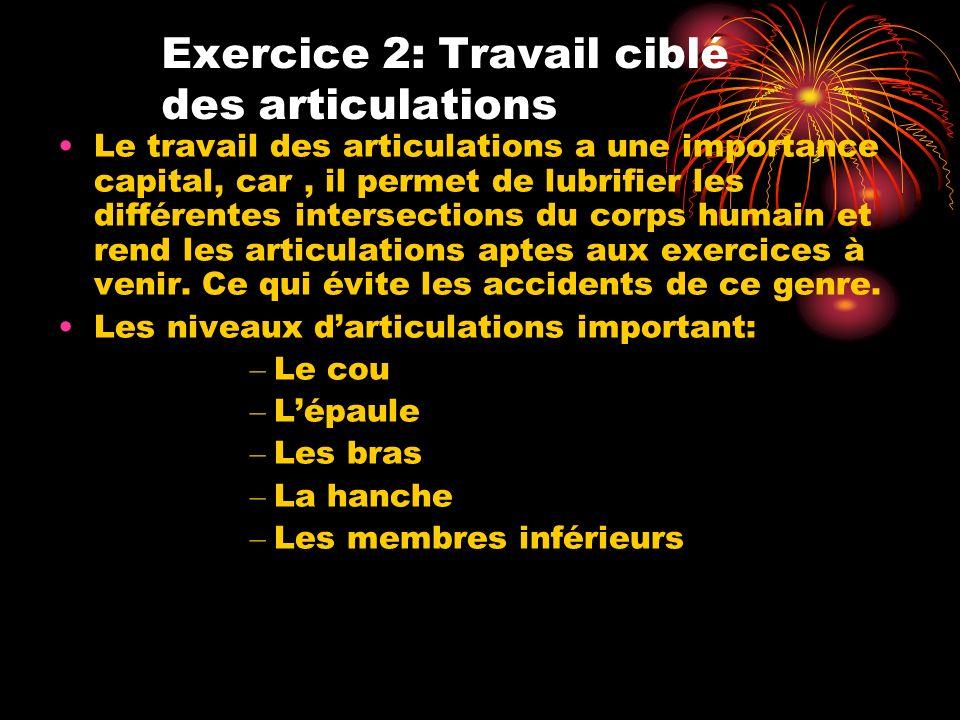 Exercice 2: Travail ciblé des articulations