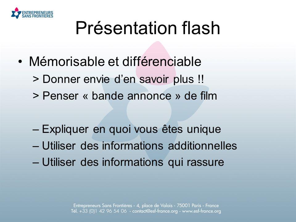 Présentation flash Mémorisable et différenciable