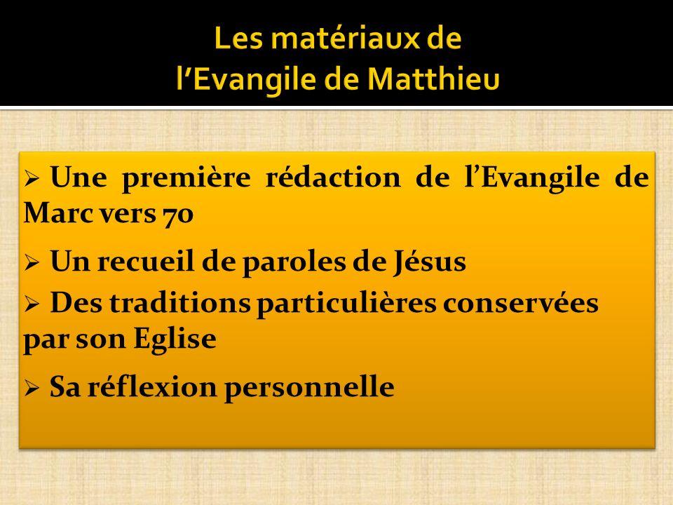 Les matériaux de l'Evangile de Matthieu