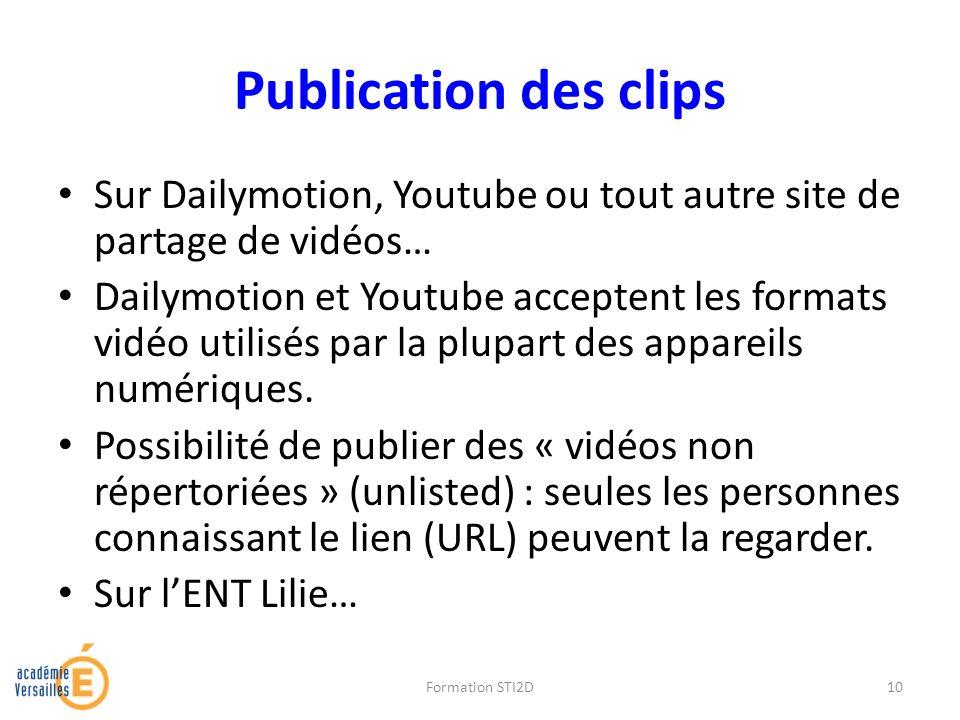 Publication des clips Sur Dailymotion, Youtube ou tout autre site de partage de vidéos…