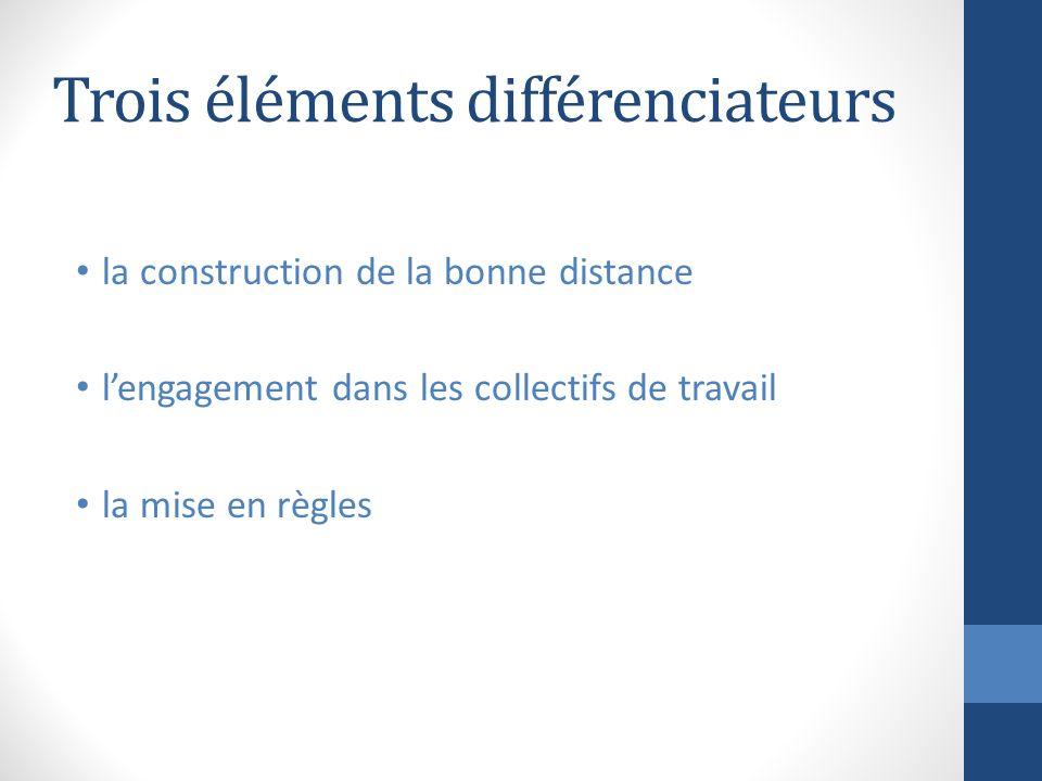 Trois éléments différenciateurs