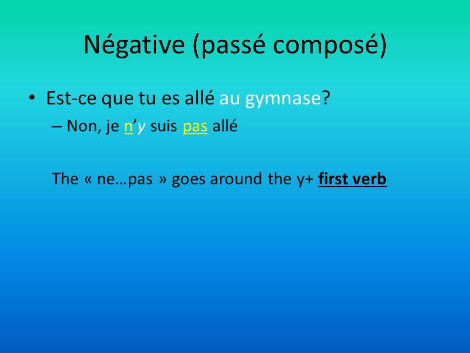 Négative (passé composé)