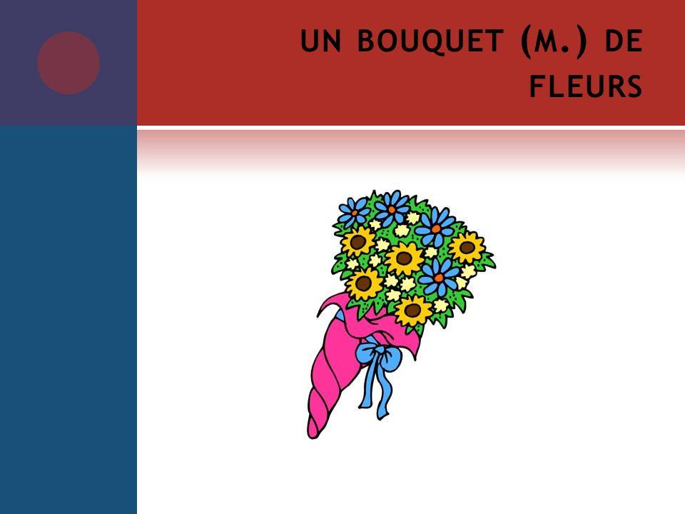 un bouquet (m.) de fleurs