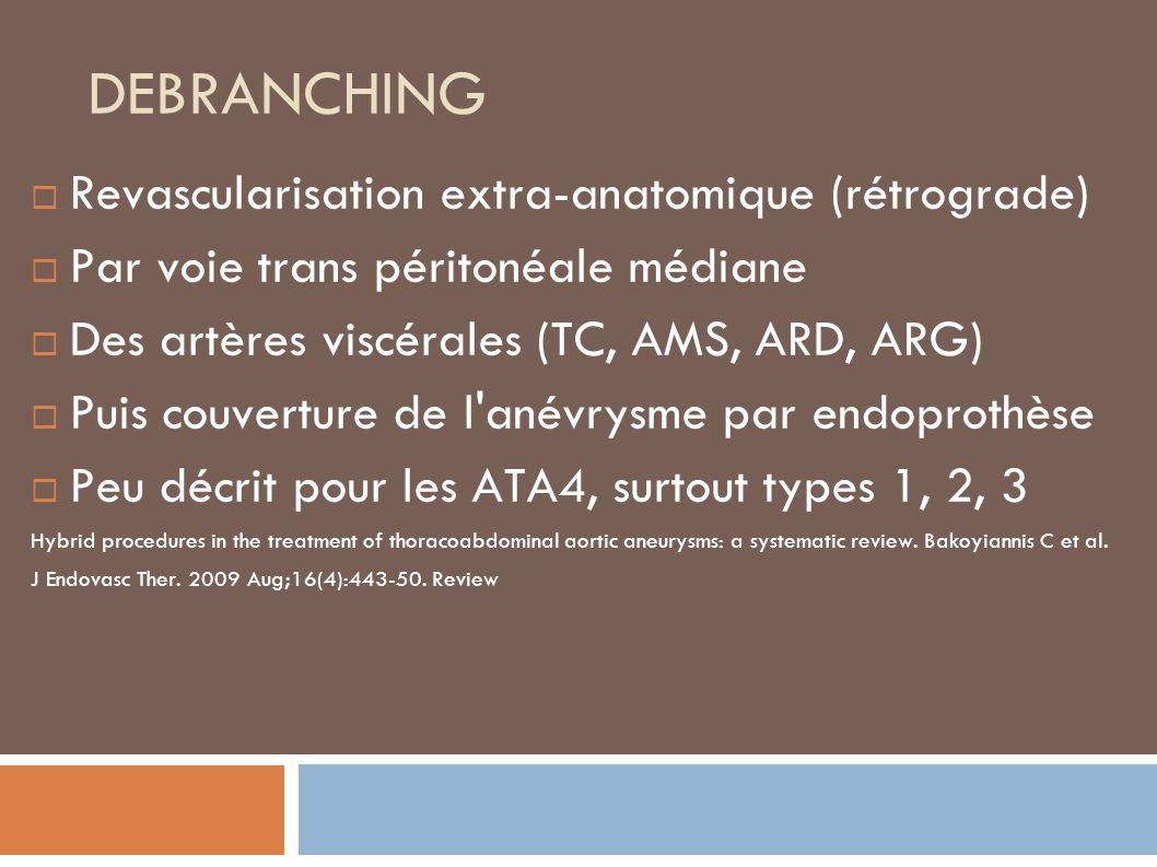 DEBRANCHING Revascularisation extra-anatomique (rétrograde)