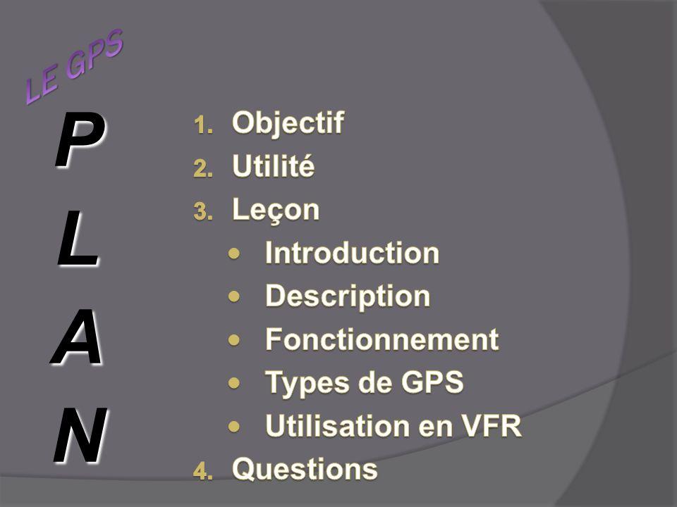 PLAN LE GPS Objectif Utilité Leçon Introduction Description