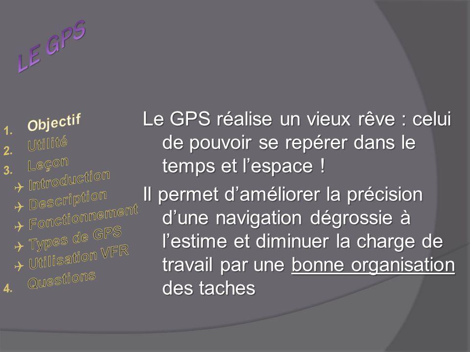 LE GPS Le GPS réalise un vieux rêve : celui de pouvoir se repérer dans le temps et l'espace !