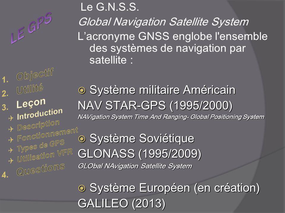 LE GPS Système militaire Américain NAV STAR-GPS (1995/2000)