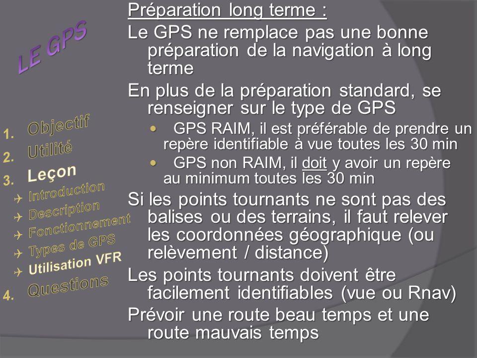 LE GPS Préparation long terme :