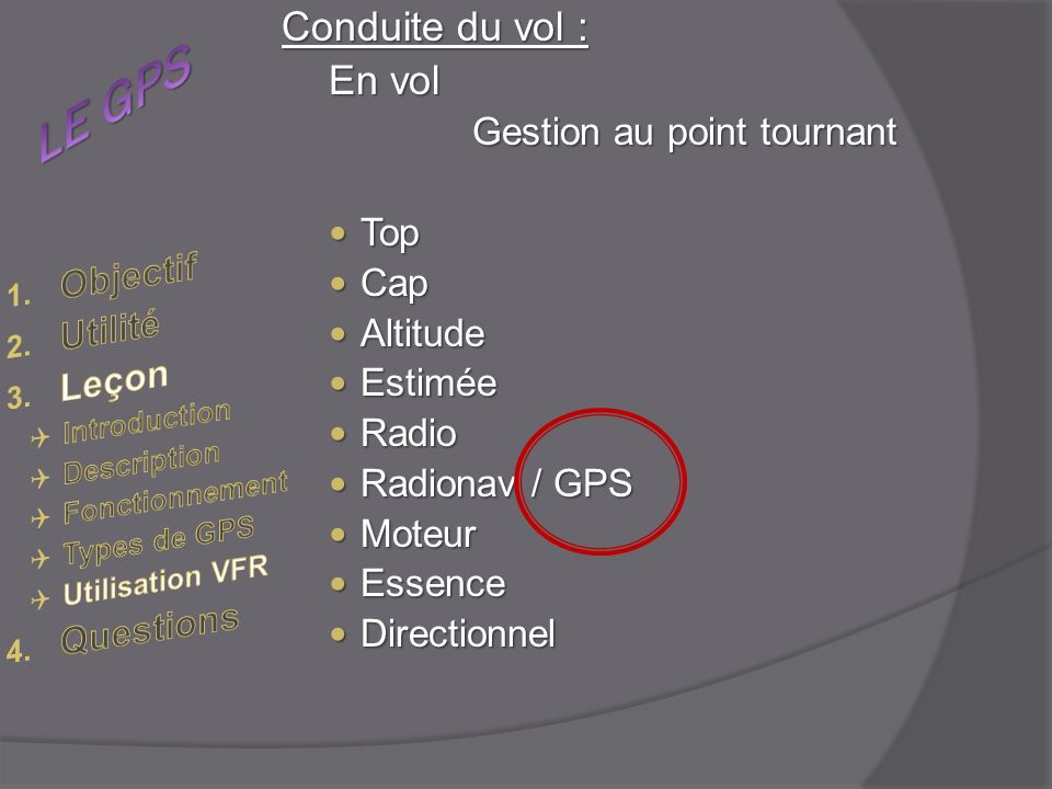 Gestion au point tournant