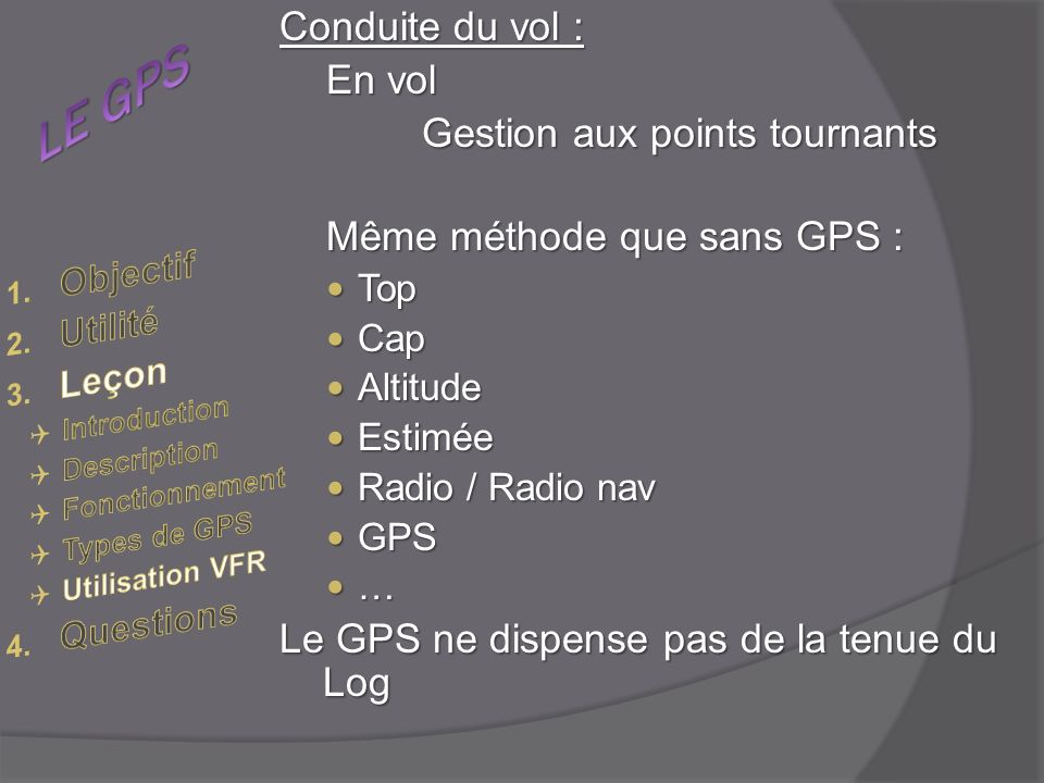 Gestion aux points tournants