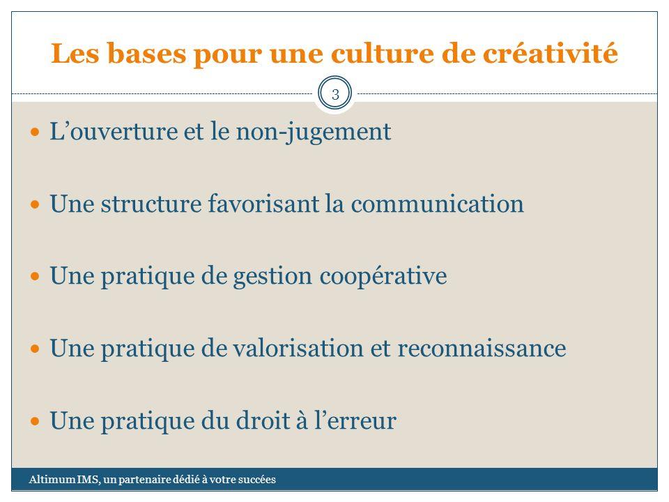 Les bases pour une culture de créativité