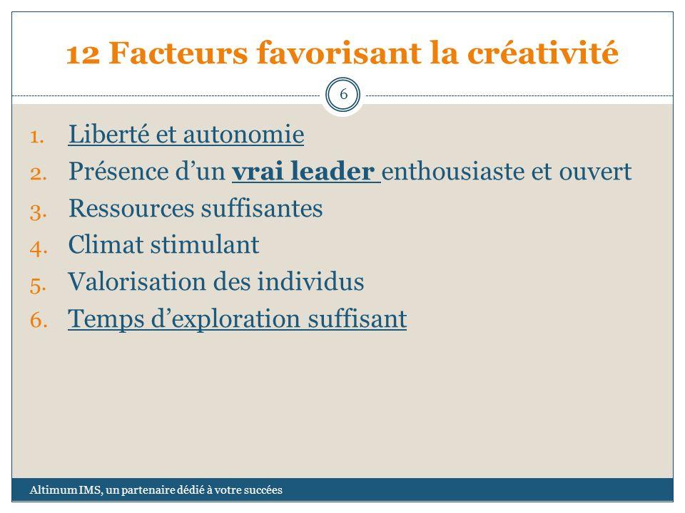 12 Facteurs favorisant la créativité
