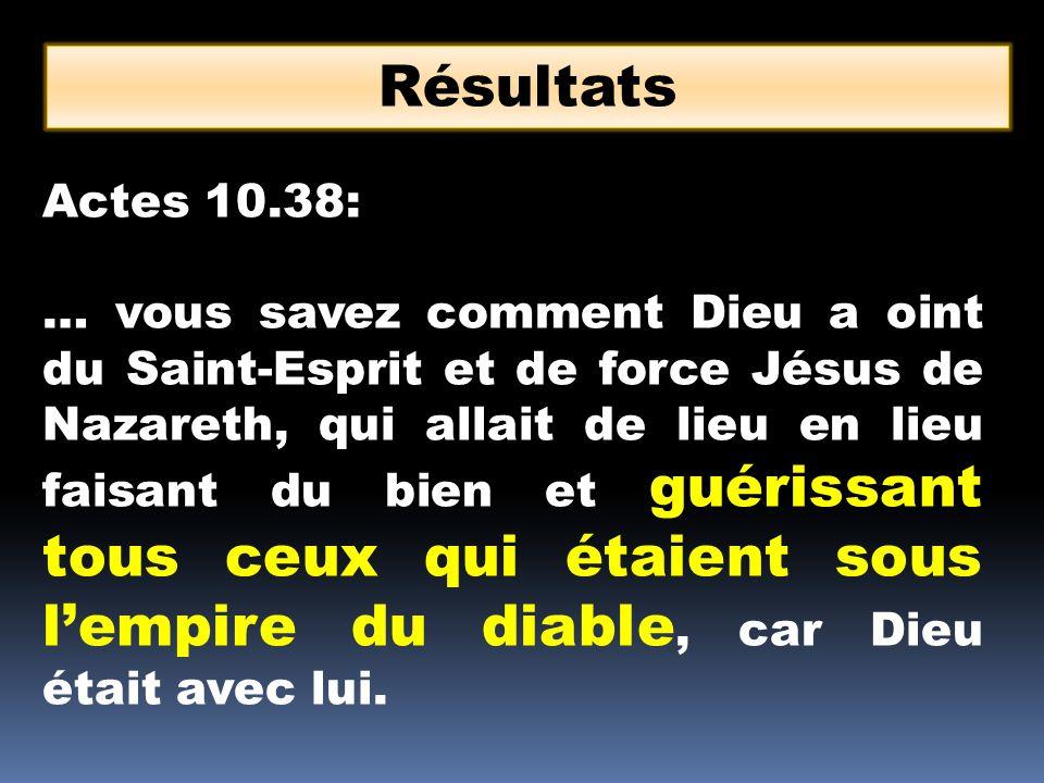Résultats Actes 10.38: