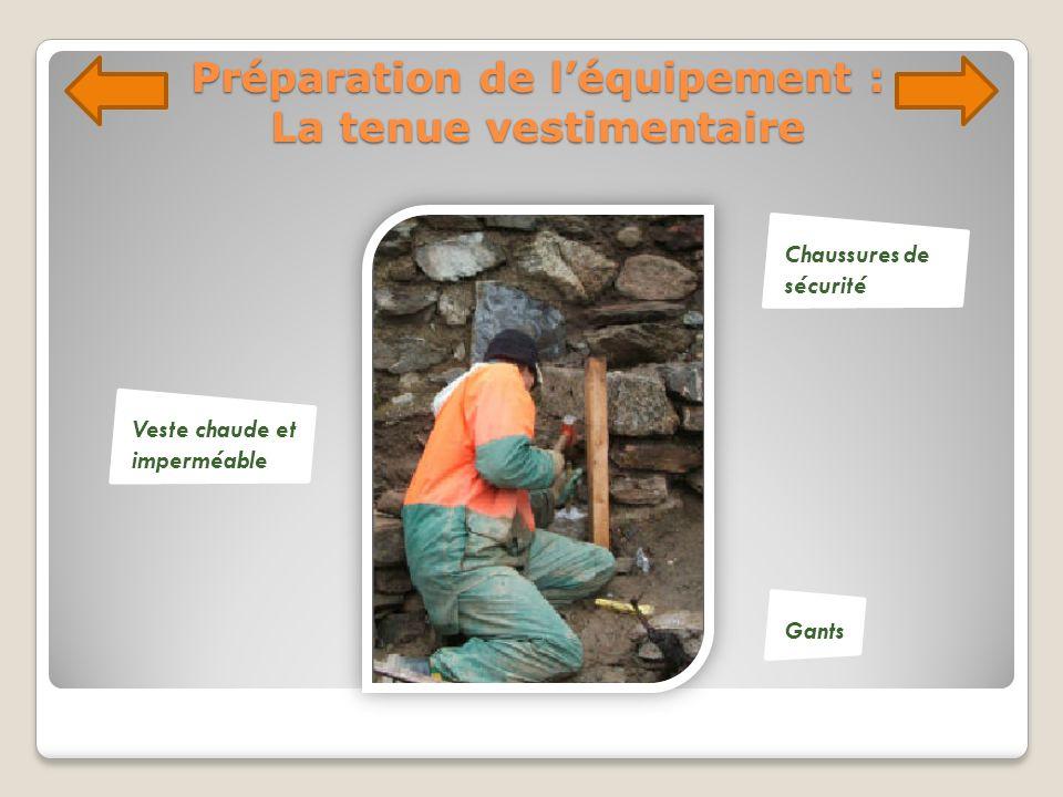 Préparation de l'équipement : La tenue vestimentaire