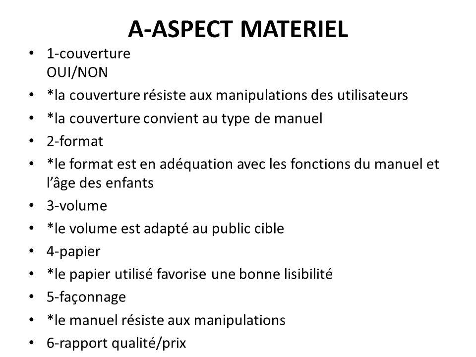 A-ASPECT MATERIEL 1-couverture OUI/NON