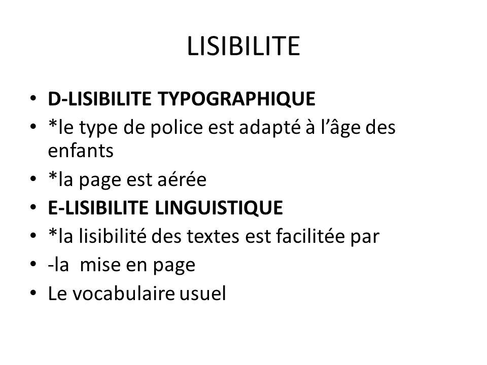 LISIBILITE D-LISIBILITE TYPOGRAPHIQUE